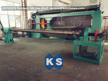 ประเทศจีน Hexagonal Wire Mesh Machine Woven Wire Mesh Machinery With 95% Aluminium Alloy Wire ผู้ผลิต