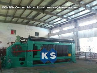 ประเทศจีน Galvanised Wire Mesh Wire Coiling Wire Netting Gabion Box Mesh Machine With CE ผู้ผลิต