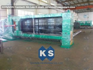ประเทศจีน Hexagonal Wire Netting Weaving Machine Gabion Production Line With Overload Protect Clutch ผู้ผลิต