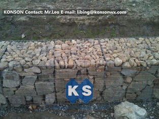 Heavy Galvanized Wire Gabion Basket Retaining Wall Structures / Gabion Box