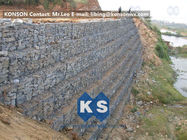 ประเทศจีน Defense Gabion Retaining Wall Hexagonal Wire Mesh with Galvanized Wire 2.7MM โรงงาน
