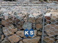 ประเทศจีน PVC / Zinc Coated Wire Mesh Gabion Retaining Wall , Galvanized Hexagonal Wire Fence โรงงาน