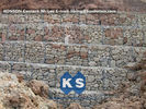 ประเทศจีน Hexagonal Wire Mesh Gabion Retaining Wall with Polyethylene PE Coated Gabion Wire โรงงาน