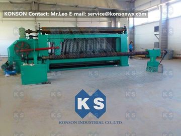ประเทศจีน Heavy Duty Hexagonal Wire Mesh Machine 4300mm Max Width Gabion Machine โรงงาน