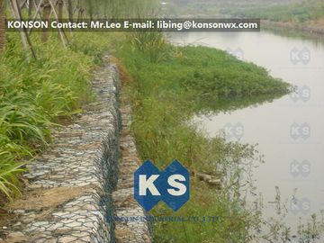 Hexagonal Mesh PVC Gabions with Hot Dip Galvanized Wire Double Twisted Mesh