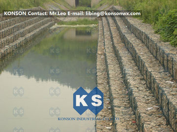 Heavy Zinc Coated Gabion Basket Retaining Wall 8x12cm To Protect Riverbank