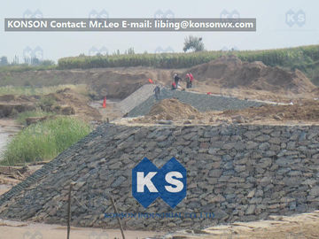 Customized Architecture Gabion Retaining Wall with PVC Coated Galfan Wire
